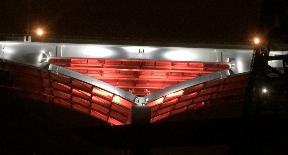 New LED lighting system brackets for the new #GVVBridge